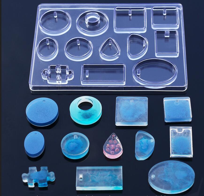 482c5246cdae 12 Molde de Silicona Collar Colgante de Joyería de Resina Que Hace el Molde  DIY Moldes de Resina de Artesanía para la Joyería