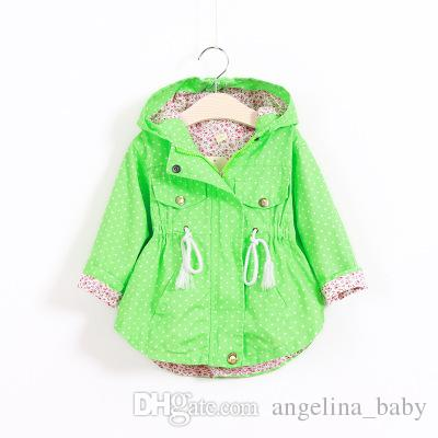 3 Colors New Baby Girls Jackets Coat Fashion Girl Polka Dot Bat Shirt Coat Children Warm Poncho Outwear Hoodies Kids Clothes Z11