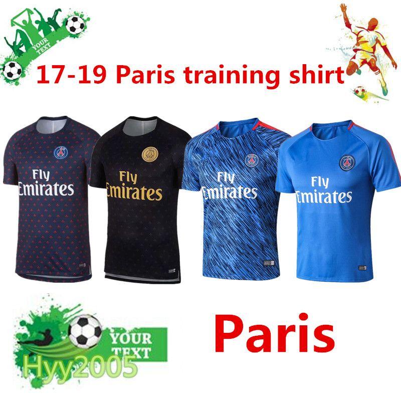 Ropa Deportiva De Manga Corta 2017 19 PSG De Alta Calidad 18 19 Paris  CAVANI MBAPPE Camisa De Entrenamiento Para Adultos Sportslment Camiseta De  Fútbol ... b73a94d47627e