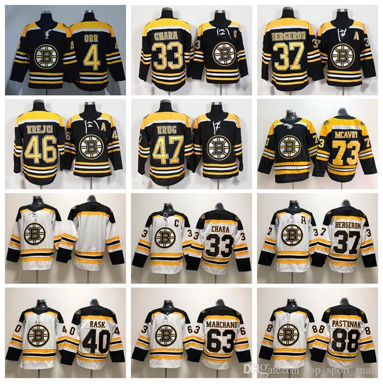9583505fc83 ... 2018 boston bruins jerseys 2018 ice hockey 33 zdeno chara 37 patrice  bergeron 63 brad marchand