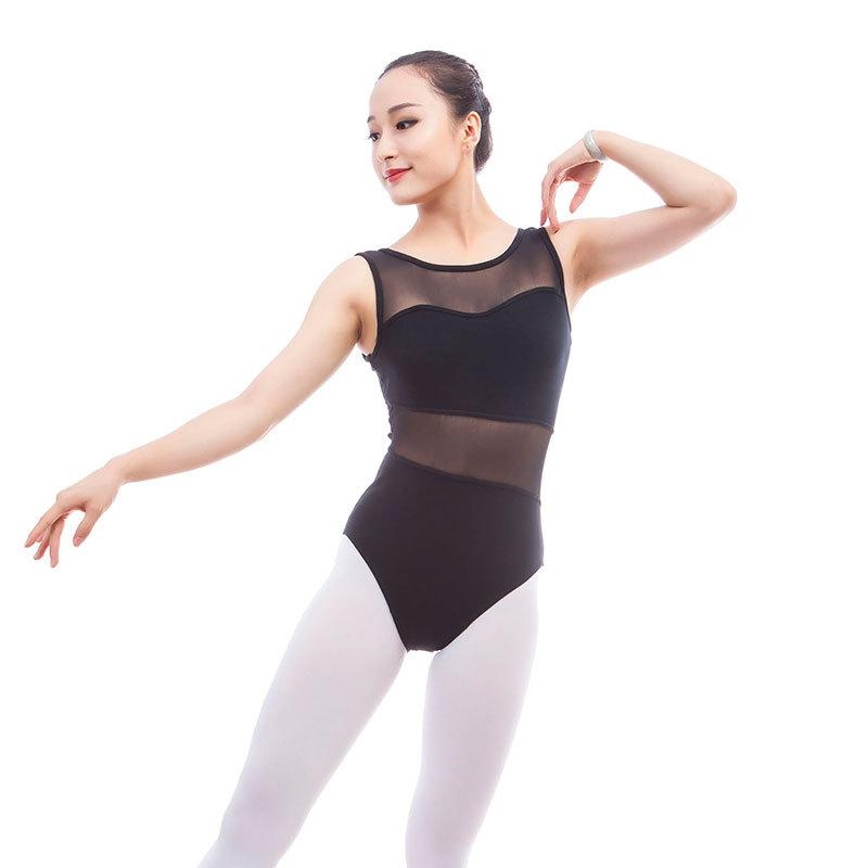 Acheter Justaucorps Femme Dos Nu Maillot Sans Manches Ballet Danse  Justaucorps Adult Ballet Noir Combinaison Corps Rouge De  31.26 Du  Priscille  42e1015ca27