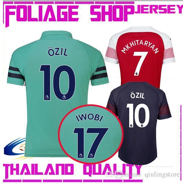 17 IWOBI 18 19 Arsenal SOCCER JERSEY OZIL10 AUBAMEYANG 7 MAN GIROUD ... 8ee8fe12a