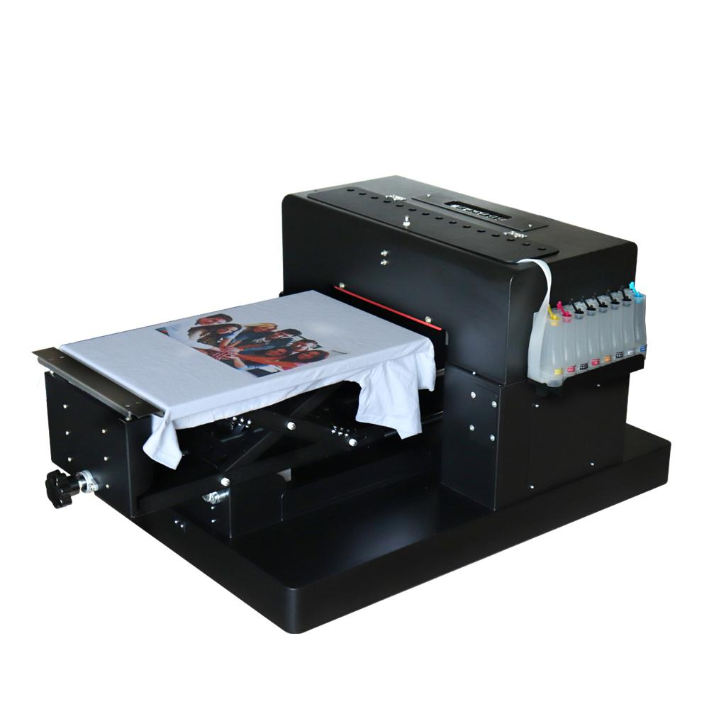 8 colors A3 size DIY T-shirt Flatbed printer Digital Printing machine for  printing T-shirt Cloth With Heat Function