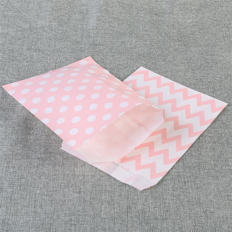 Striped Polka Dot Chevron Wedding Candy Bar Bags Party Gift Bags ...