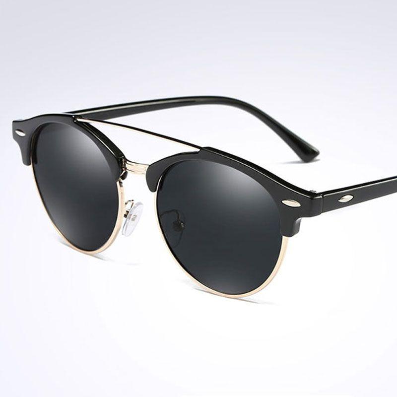 9f6cbbeb23 Polarized Sunglasses Men Women Brand Designer Classic Vintage Rivet ...
