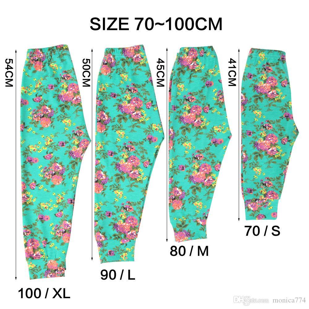Neugeborenes Baby-Hosen-Set Hosen + Häschen-Ohr-Stirnband + Bib Outfits Set nette Mädchen Bottom Blumen Leggings gedruckte Blumen-lange Hosen-0-24M P1