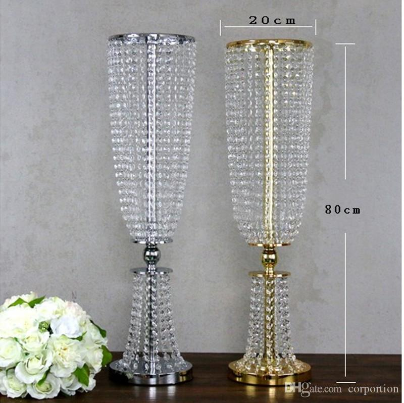 Luxury Shiny Wedding Decor Centerpieces Crystal Beads String Road Lead Party Table Decoration Props