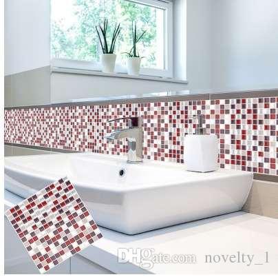 Selbstklebende Mosaik Fliesen Wandtattoo Aufkleber DIY Küche Bad Wohnkultur  Vinyl W5