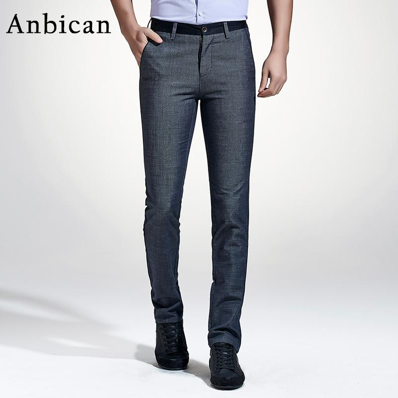 93b41a41 Anbican 2017 Fashion Mens Dress Pants Spring and Summer Lightweight Chino  Pants Men Full Length Straight Pockets Casual