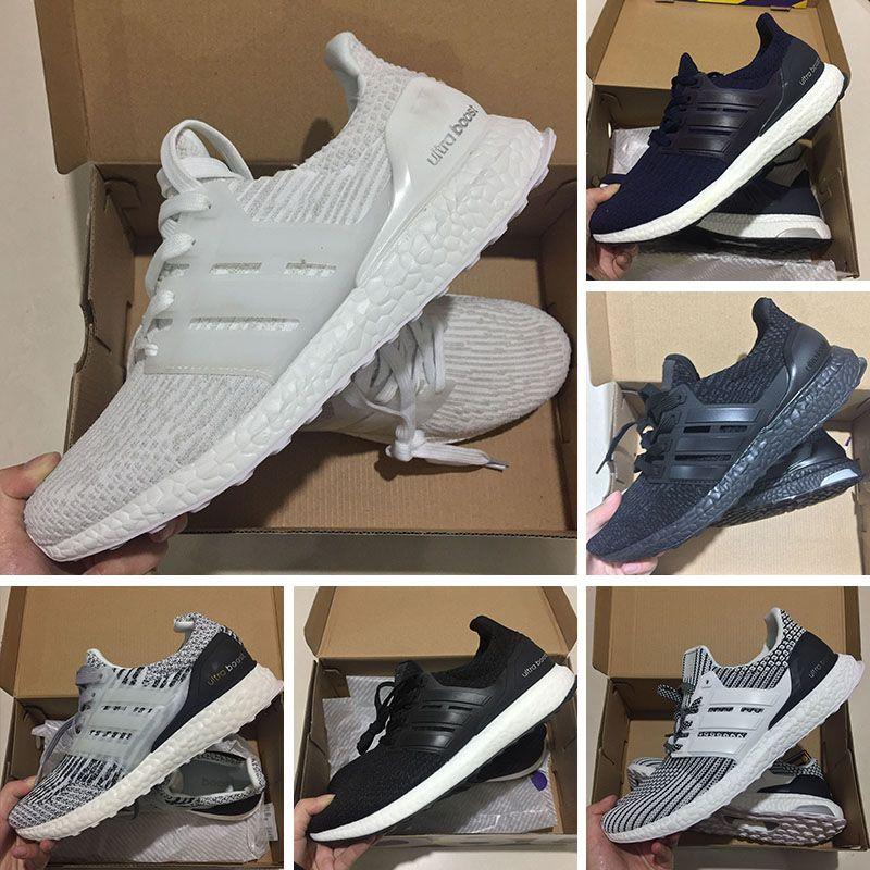 hot sale online 18ac0 50d04 Acquista Hot 2018 Adidas Ultra Boost 3.0 4.0 Triplo Bianco Nero Grigio Uomo  Donna UB 3.0 Blu Oreo Casual Scarpe Sportive Sneakers 36 45 A  81.44 Dal ...