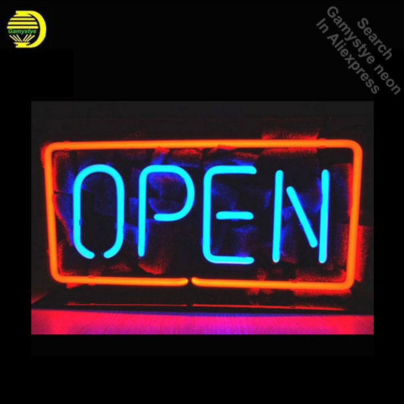 2019 Open Neon Sign Glass Tube Cool Neon Bulbs Sign Beer Pub Lighted