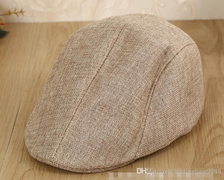 Summer Peaked Beret Hut Newsboy Visor Hüte Caps Golf Cabbie Baskenmütze Gatsby Flachkappe Flachs Hut 9 Farben