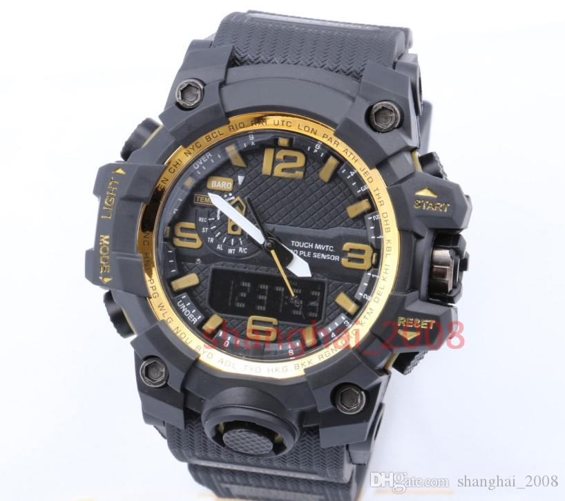 New style Fashon GWG men's sports watches GW1000 Display LED Fashion army military shocking watches men Casual Watches