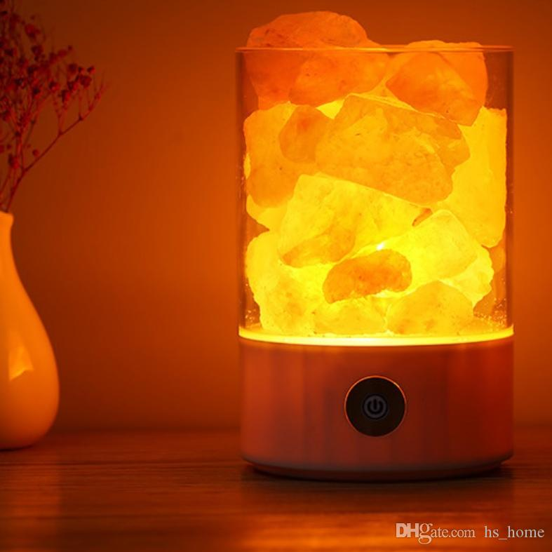 Acheter Nouveau Lampe A Sel Rose Himalayenne Certifiee Entree Usb