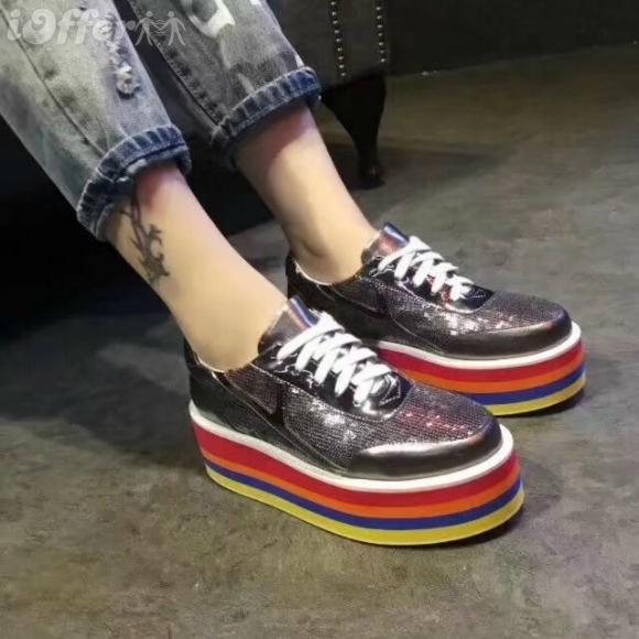 2e491297d5cf RAINBOW METALLIC LEATHER GLITTER WOMEN PLATFORM SNEAKER Women Pumps Loafers  Ballerina Flats Espadrilles Wedges Sneakers Boots Booties Leather Shoes ...