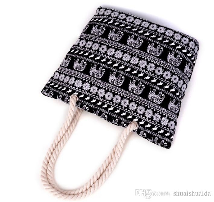 2018. Casual fashion bag. Geometric figures. Woman bag. Handbag of ladies' canvas. Big. Mom's shopping bag. Bags. Shoulder Bags.Totes. B02