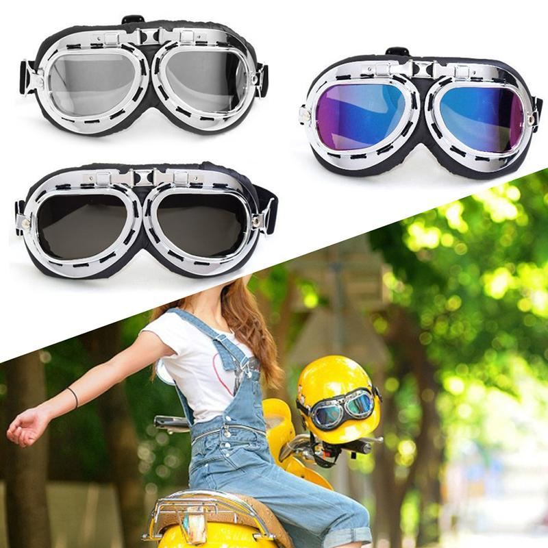 50d3c72aff Wupp Retro Vintage Aviator Pilot Bike Motorcycle Cycling Goggles Eyewear  Glasses New Motorcycle Goggles Singapore Motorcycle Goggles That Fit Over  ...