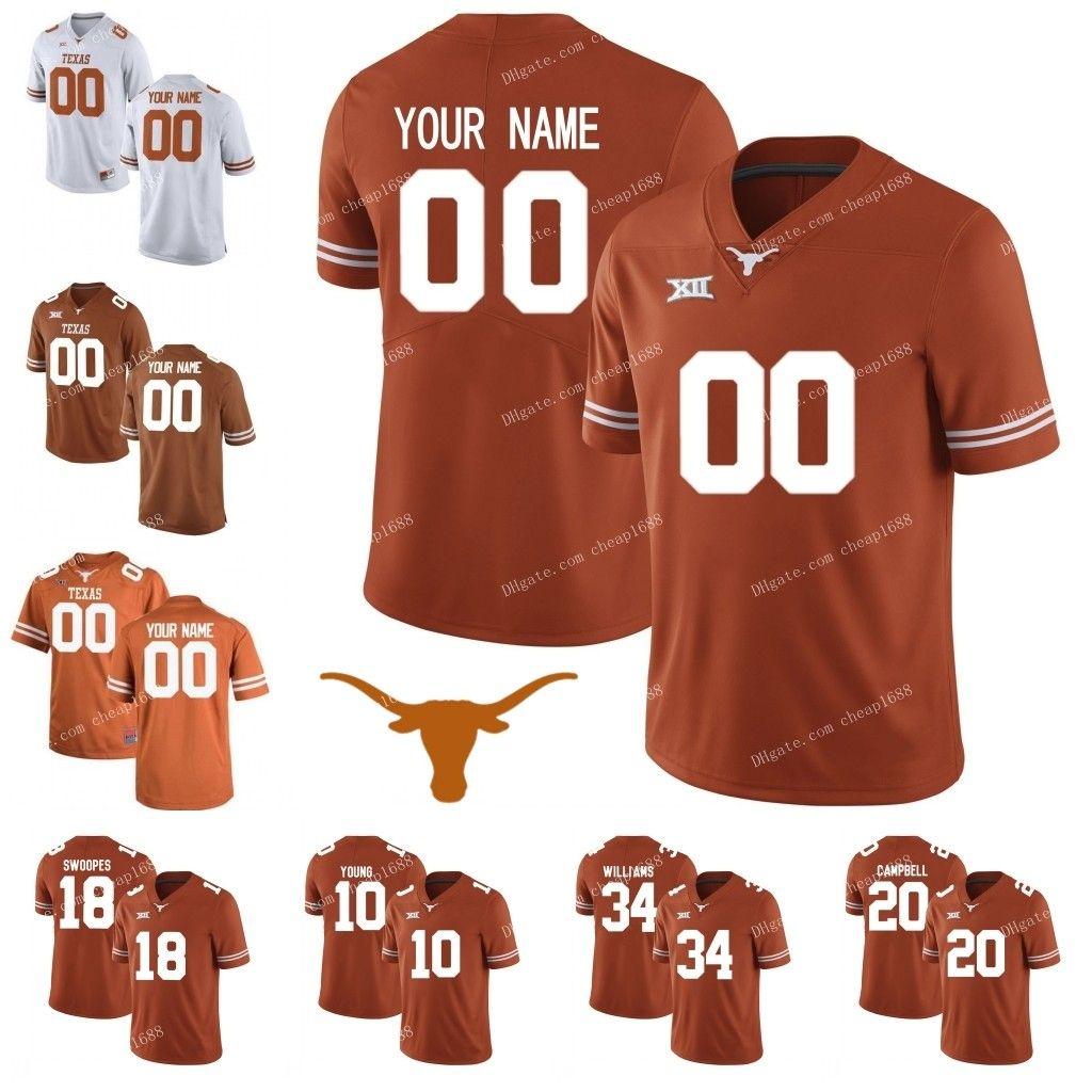 outlet store d1846 f8d21 Texas Longhorns #25 Jamaal Charles 12 Earl Thomas III 7 Shane Buechele  Garrett Gilbert White Orange Stitched College Football Jerseys S-3XL