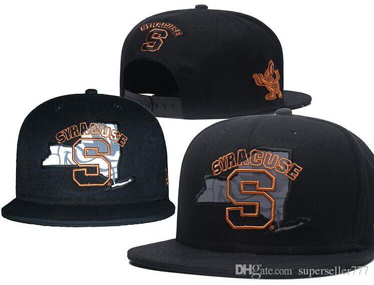 e095a85d9b5 NCAA Syracuse S Snapback Caps Popular College Hats All Black Sports ...