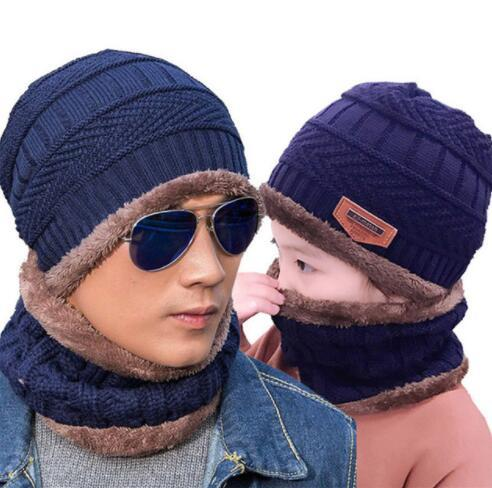 2019 Winter Knitted Hats Scarf Hat Set Adult Kids Winter Hat Thick Beanie  Neckerchief Winter Outdoor Accessories Hats Scarf KKA6011 From B2b baby 069e12d9453