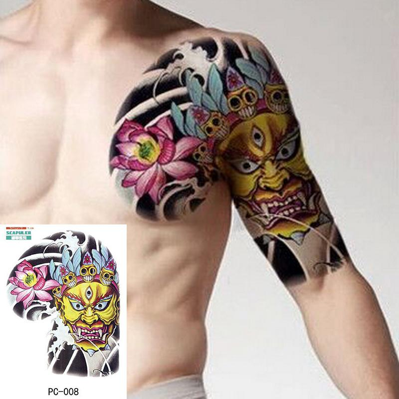 Tatuaje Temporal De Gran Tamano En El Pecho Cuerpo Brazo Hombro