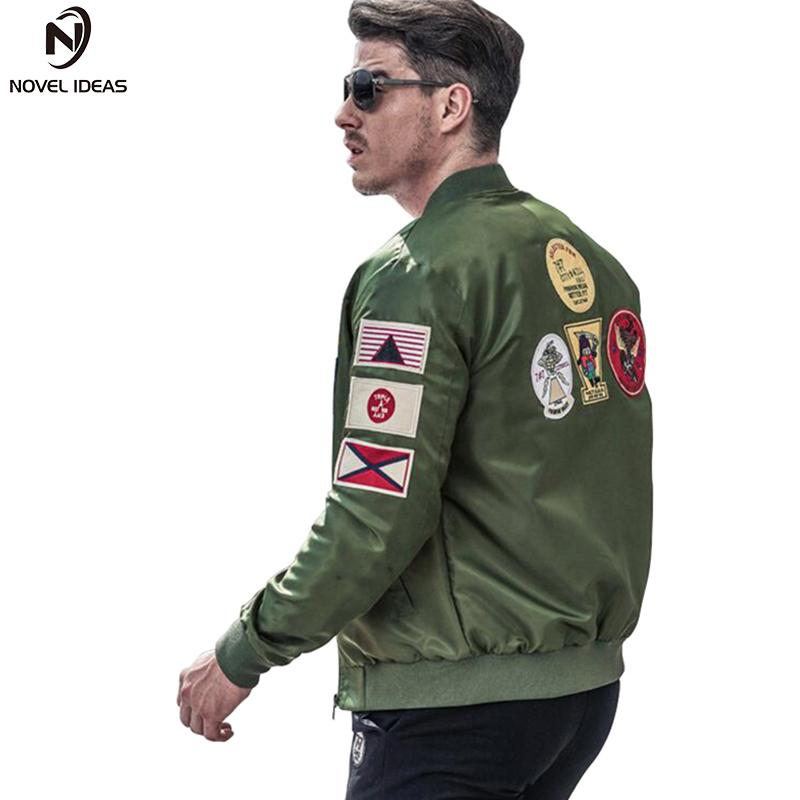 Novel Ideas Bomber Jacket Men Ma 1 Army Green Flight Jacket Pilot Mens Ma1  Motorcycle Jackets Coats US Size Cool Jackets Men Cool Men Jackets From ... 453614eab49