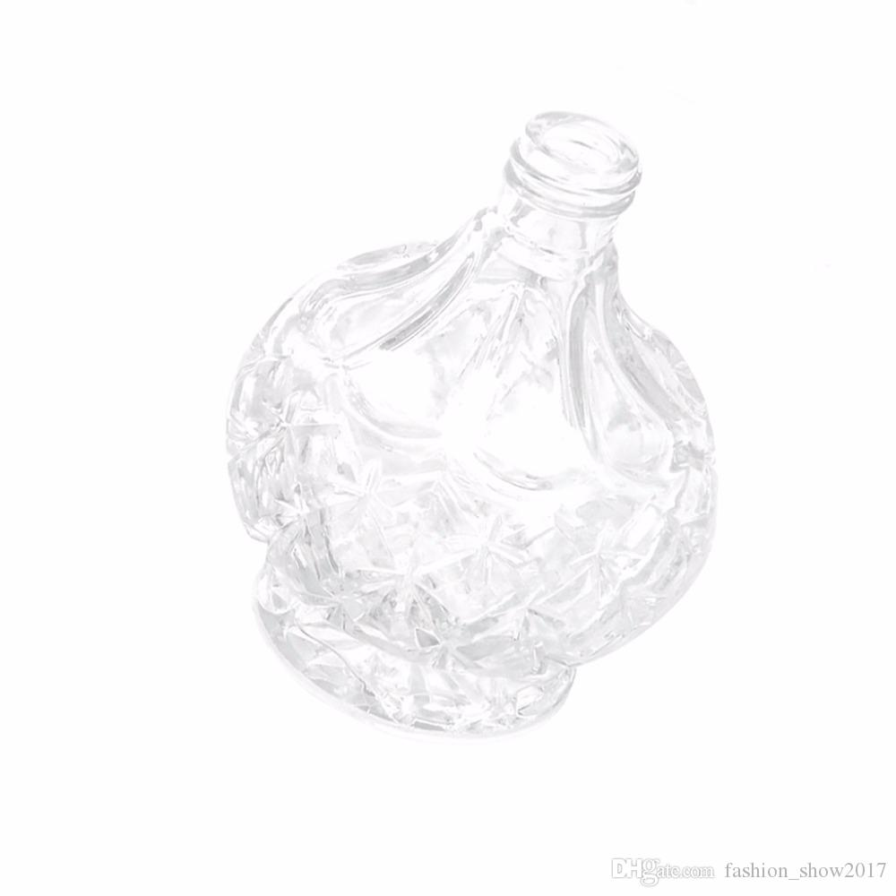 Botella de perfume Señora nueva manera de la vendimia larga del atomizador del aerosol recargable de cristal 80ml botella de perfume de señora Gift vidrio de la vendimia