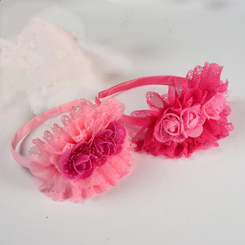6ab0177f7 2018 New Lace Flower Headband Children Girls Princess Bowknot Hairband  Headdress Birthday Halloween Party Favor Gift Eco Wedding Favors Flower Seed  Packets ...