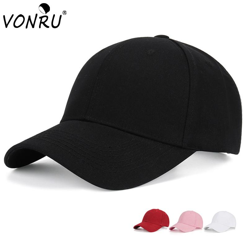 4a98feb17a3b41 VONRU New Spring Cotton Cap Solid Black Baseball Cap Snapback Hat Summer  Hip Hop Fitted Adjustable Hats For Men Women Kangol Baseball Caps From  Shuidianba, ...