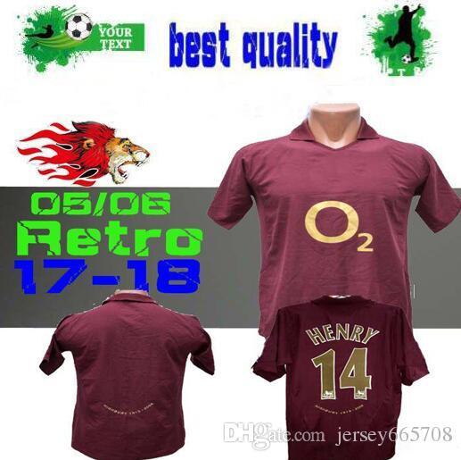 a8c4b63b8 ... sweden 2018 2005 2006 highbury home football shirt jersey soccer pires  7 henry 14 v.