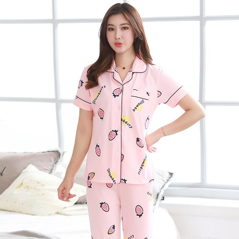 2019 Women S Pajamas Sets 100% Cotton Kawaii Totoro Cartoon Sleepwear  Nighty Female Casual Autumn Winter Pajamas Sets Cute Pijama Set D18110501  From ... ee6db5114
