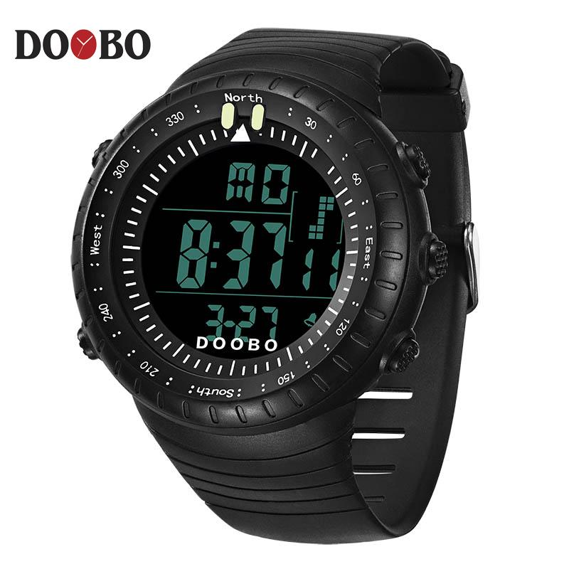 b492f3bf9bb3 Compre DOOBO Marca Hombres Relojes LED Reloj Digital Hombres Reloj De  Pulsera Negro Alarma 50m Impermeable Relojes Deportivos Para Hombres  Relogio Masculino ...
