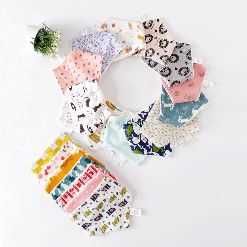 Toddler Triangle Burp Cloths Winter Baby Bibs Feeding Baby Accessory Cute  Designer Baby Bandana Bib 18110301