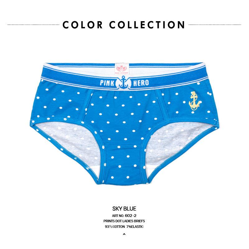 Ocean Wind Cotton Printing Lovers Underpants Triangle Underpants underwear women panties woman briefs sexy safety short pants