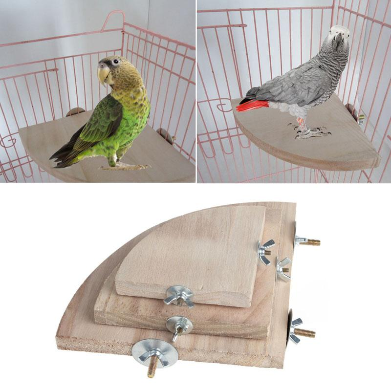 Pet Products Parrot Pet Raw Wood Toy Stand Parakeet Branch Hamster Perches For Bird Cage New Drop Ship Home & Garden
