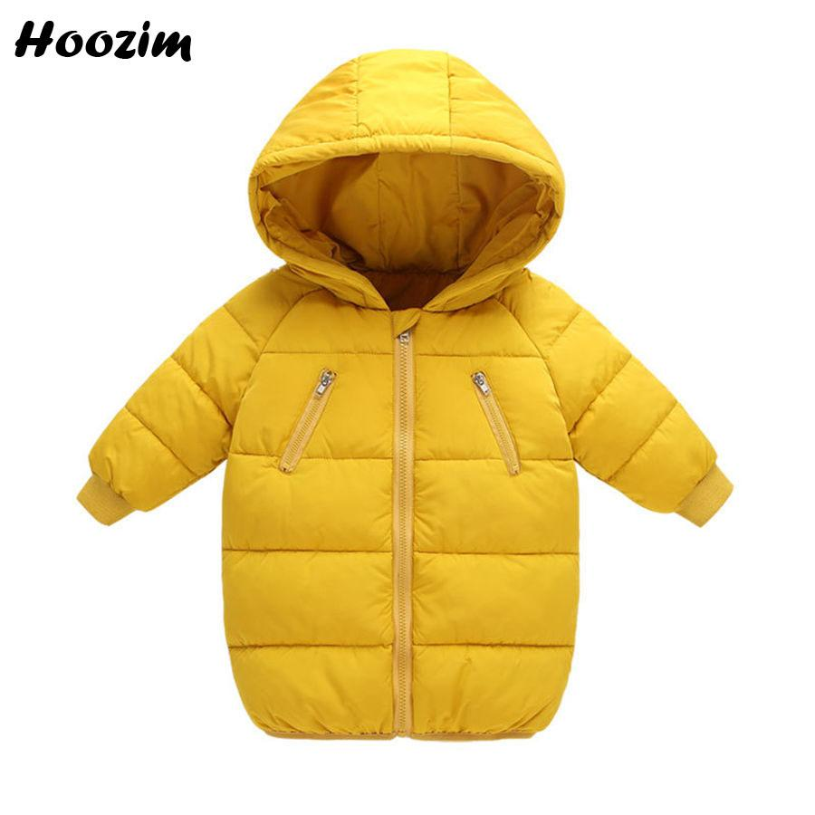 0690bf3ae Winter Parka Children Fashion Boy Baby Clothing Autumn Long Jackets For  Boys 6 7 8 Years Nice Kids Outerwear Red Coat For Girls