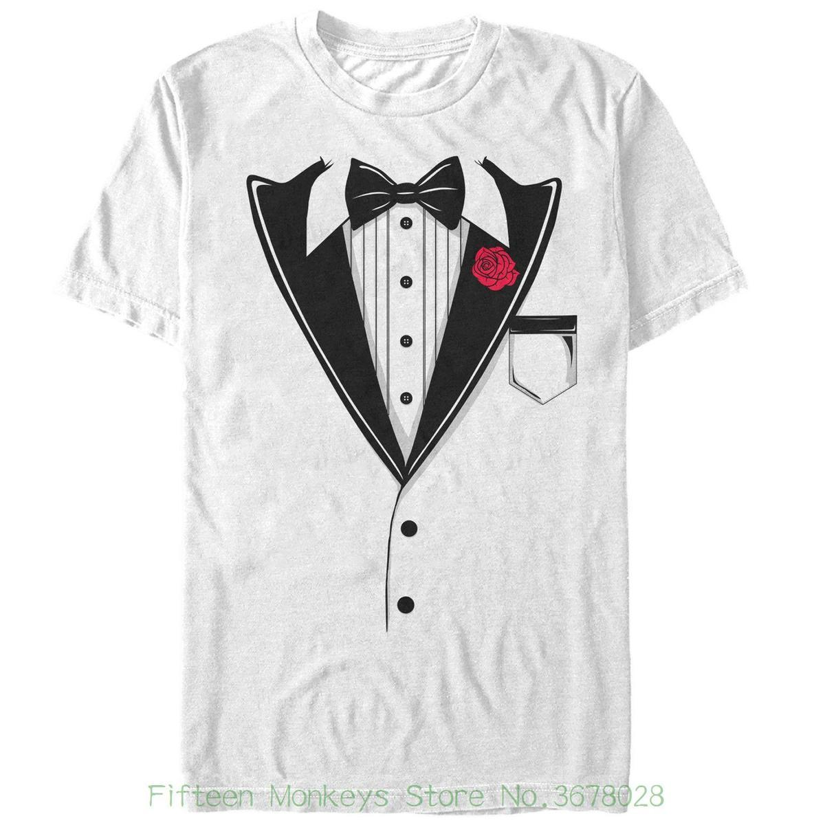 Print Tee Shirt Men Short Sleeve Lost Gods Valentines Day Bow Tie
