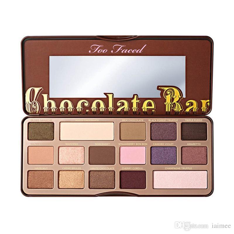 페이스 된 메이크업 초콜릿 바 아이 섀도우 세미 스위트 달콤한 피치 본 봉 팔레트 16 색 흰색 초콜릿 바 아이 섀도우 플레이트