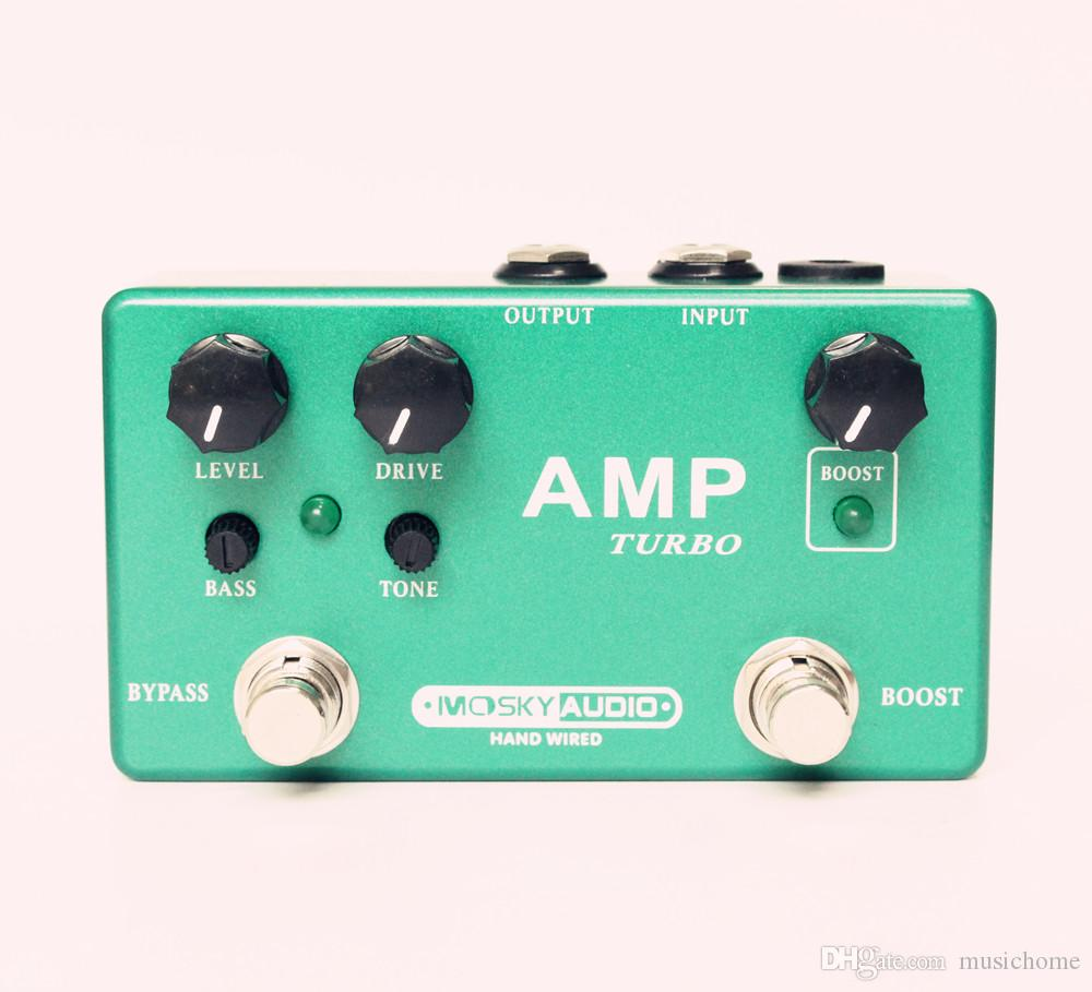 2018 Handmade Mosky Guitar Effects Pedal Amp Turbo Preamp Overdrive ...