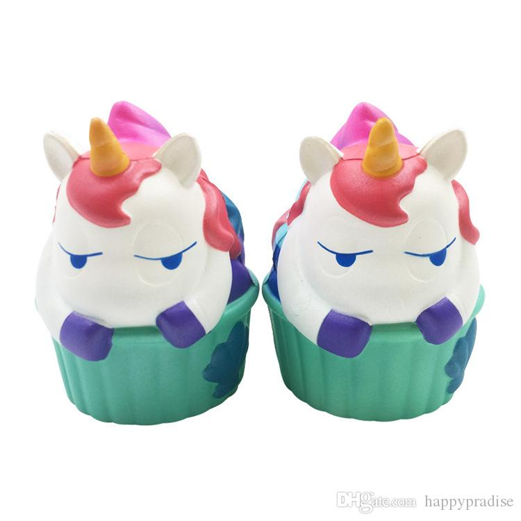 New Kawaii Squishy Toy Animal Hippo Unicorn Slow Rising Scented Soft Squeeze Stuffed Kids Gift Phone Bag Straps Stress Reliever Toys