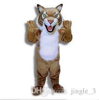 2018 Neues Tierjunges Tiger Maskottchen Kostüm Erwachsene Größen Zeichentrickfilm Figur Karnevals Partei Outfit Klage Abendkleid Freies Verschiffen