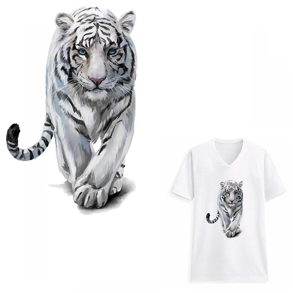 Tigre Roupas Remendos Calor Transfers Adesivos Iron-on Patch DIY Decoração Artesanal Apliques para Jeans Casacos T-shirts