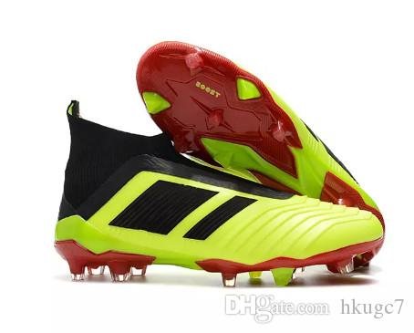 Cheap New Hot Predator 18+ 18.1 FG Soccer Cleats Chaussures De Football Boots Mens High Top Soccer Shoes Predator 18 Football Shoes manchester great sale cheap online cheap prices reliable ATUuXm