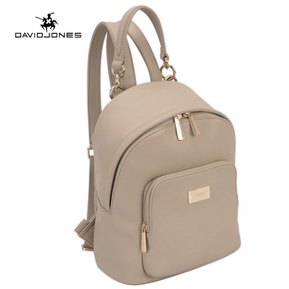 78ff05e99f49 DAVIDJONES Women Backpacks Women's PU Leather Backpacks Female School  Shoulder bags Teenage girls college student casual bag