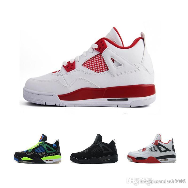 the latest c573b dd75b Acquista Nike Air Max 2018 Scarpe Da Basket Da Uomo 4s Di Altissima Qualità  4s Bianco Cemento Nero Rosso 4 Superman Fashion Hi Top Da Uomo 40 47  Cantieri ...