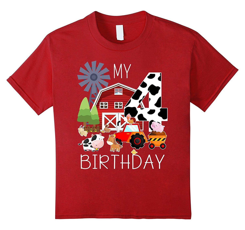 Kids 4 Year Old Farm My 4th Birthday TShirt Deal With It T Shirt Ts Shirts From Spreadshirtinc 1101