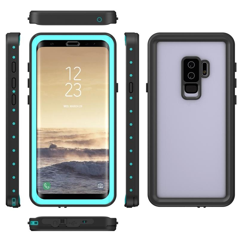 sale retailer a0cad 3bfef Waterproof Armor Case For Samsung Galaxy S9 S9 Plus Redpepper Dot Series  IP68 Swimming Slim Dustproof Shockproof Phone Full Cover Retail Box