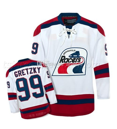 2019 Wayne Gretzky  99 Indianapolis Racers Hockey Jersey White Embroidery  Stitched Custom Any Name And Number Men S Jerseys From Abao20 22b9c9e8971