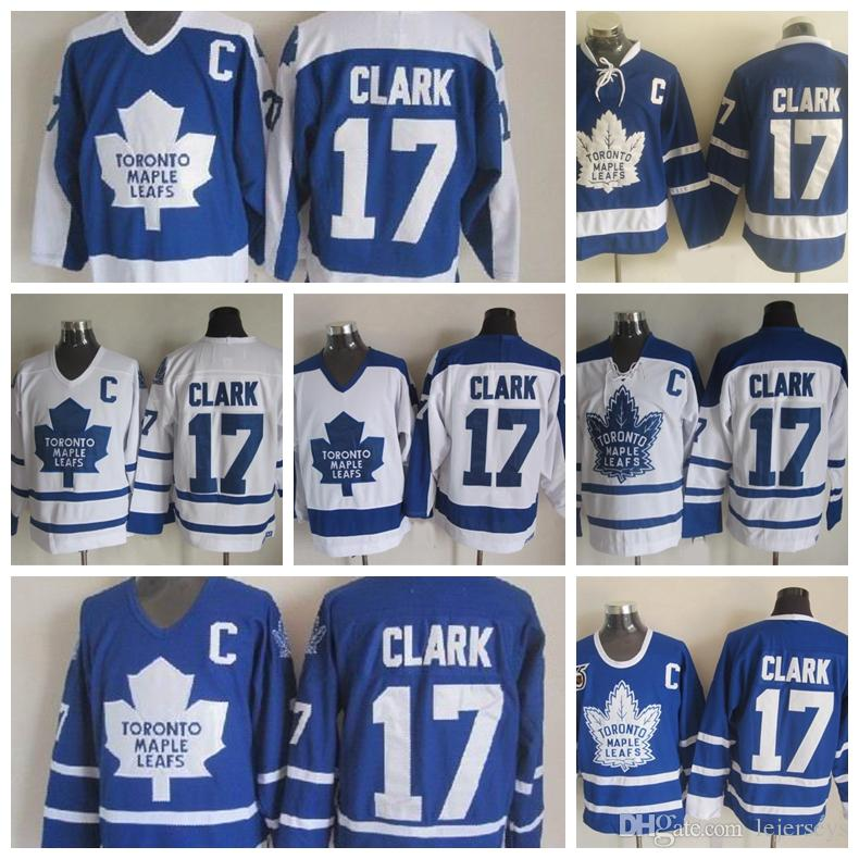 ... free shipping 2018 vintage toronto maple leafs 17 wendel clark hockey  jerseys vintage classic 75th anniversary ... e4601c4e7