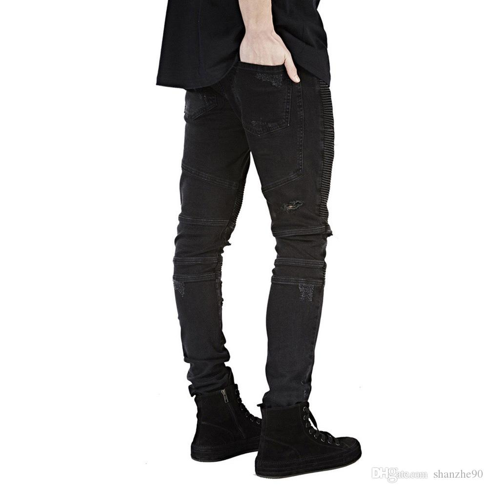 Großhandel Männer Jeans Runway Schlank Racer Moto Biker Jeans Mode Hiphop  Skinny Jeans Komfortabel Und Für Männer Von Shanzhe90,  21.37 Auf De.Dhgate. 00a5b57bbd